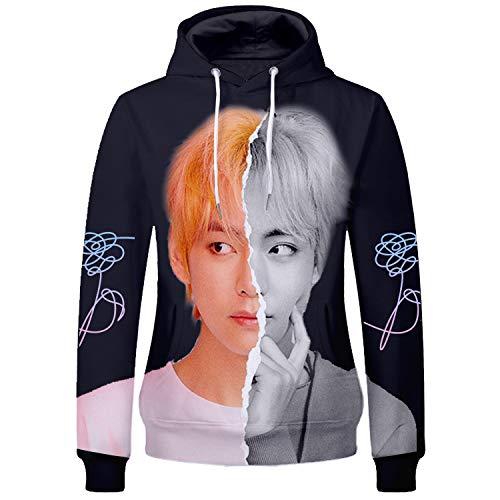 Kpop BTS Love Yourself Hoodie Jimin Jungkook Suga V Jhope Pullover Sweatshirt Hoodie