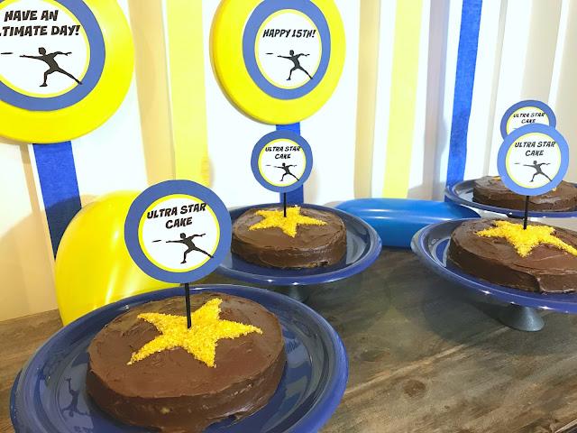 Ultra Star Frisbee Cakes @michellepaigeblogs.com