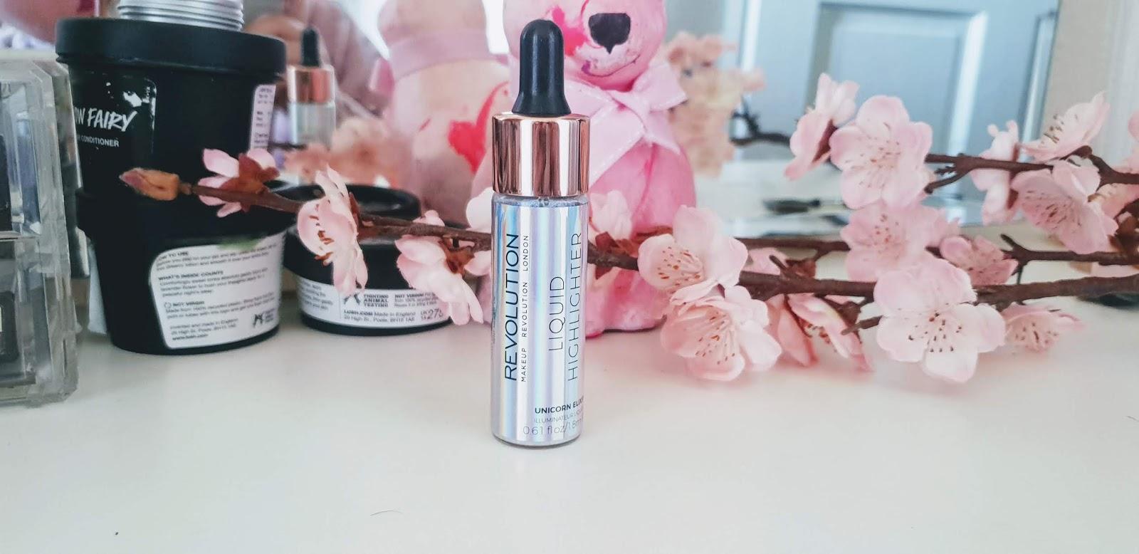 makeup revolution liquid highlighter unicorn elixir review