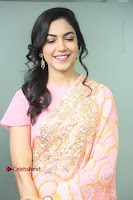 Actress Ritu Varma Pos in Beautiful Pink Anarkali Dress at at Keshava Movie Interview .COM 0095.JPG