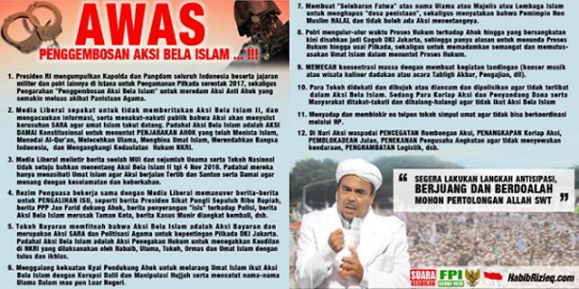 Awas! Penggembosan Aksi Bela Islam 4 November Dilancarkan Pemerintah & Kaki Tangannya