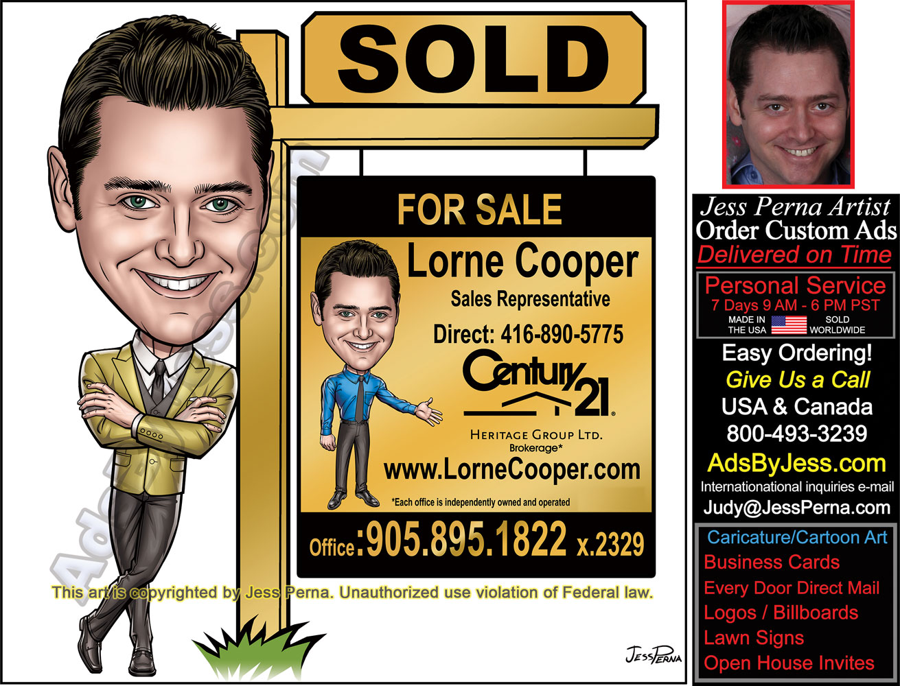 How to order ad cartoons and caricatures century 21 business cards order century 21 business cards lawn signs reheart Images