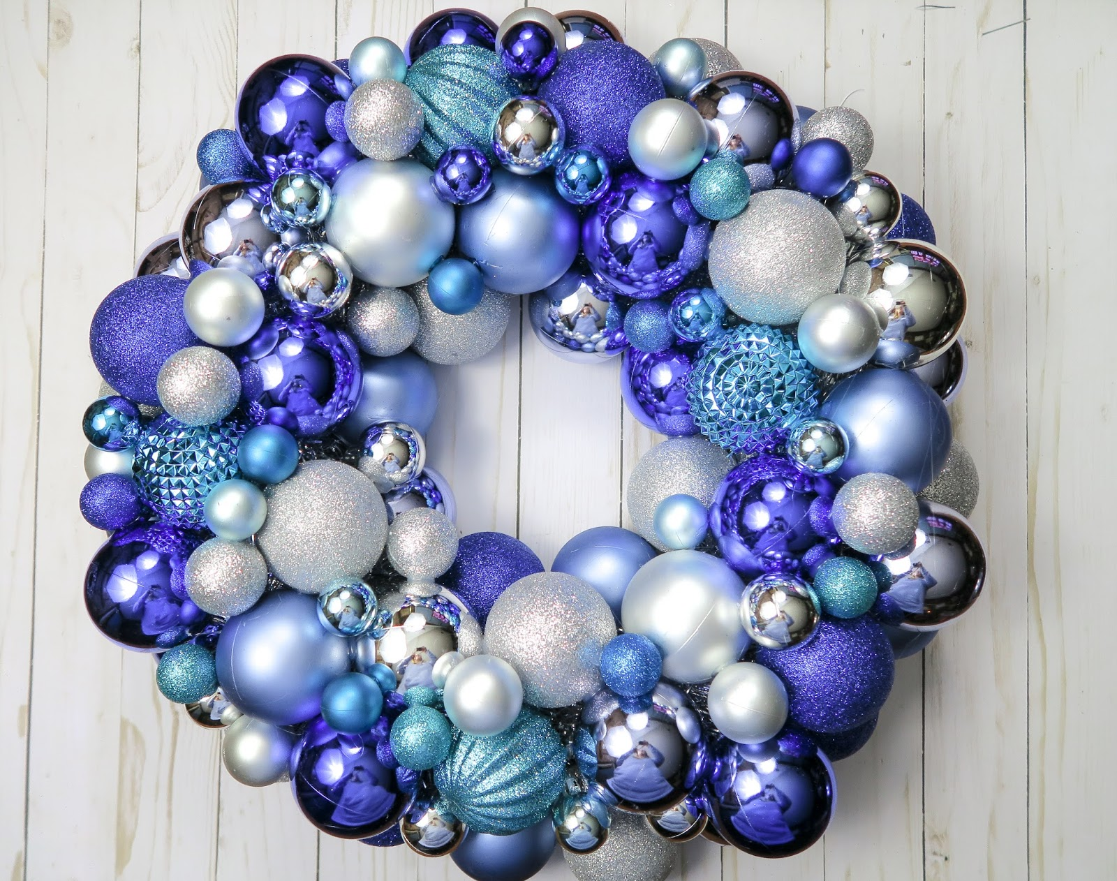How To Create Your Own Diy Ornament Wreath With Love Katie