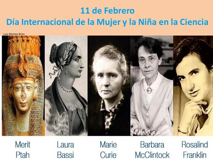 Resultado de imagen de 15 de febrero Día Internacional de la MUjer y de la Niña en la Ciencia