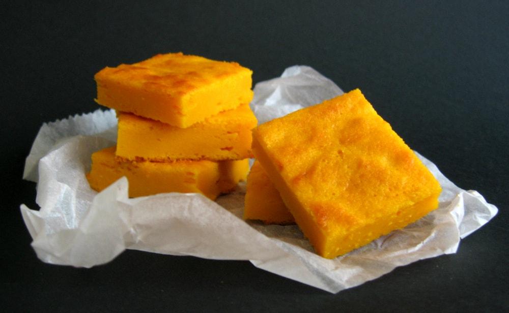 Quadrados de cenoura / Carrot squares