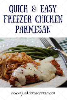 Quick and Easy Freezer Chicken Parmesan