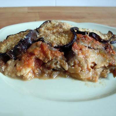 pastel de berenjenas y mozzarella