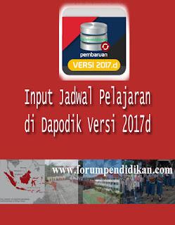 Input Jadwal Pelajaran di Dapodik 2017d