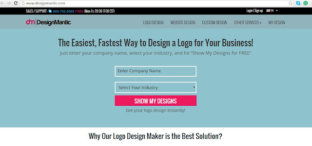 Design Mantic- awesome place to design logos online