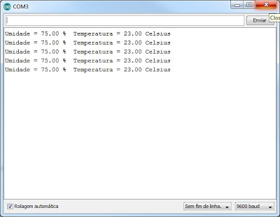 Sensor temperatura DHT11 - Serial Monitor