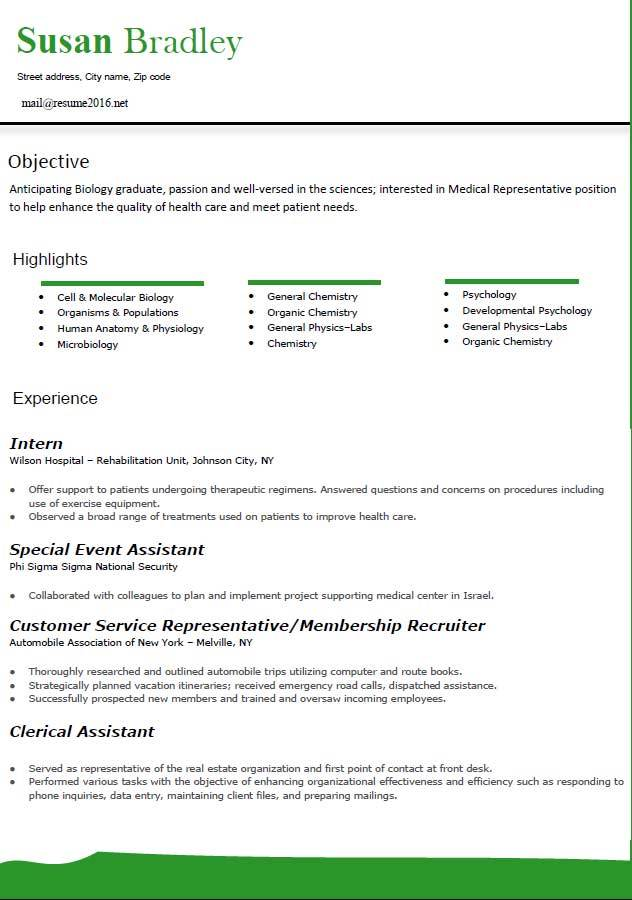 Top Resume Samples 2016 | Sample Resumes