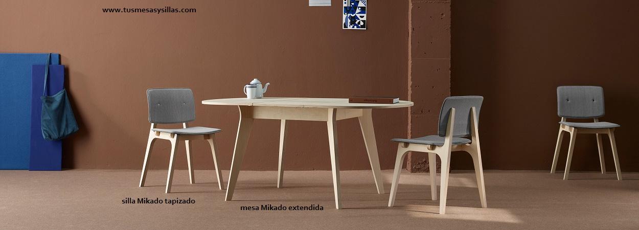Mesas de cocina y comedor mesa redonda extensible mikado - Mesa redonda extensible barata ...