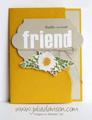 Stampin' Up! Paper Pumpkin February 2018: Wildflower Wishes Alternative Card Design ~ www.juliedavison.com
