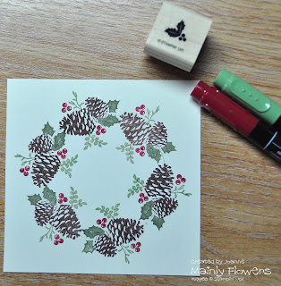 christmas pines poinsettias stampinup