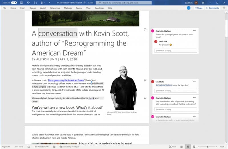 Microsoft starts testing a richer Word collaboration experience by introducing modern commenting feature on Windows desktop