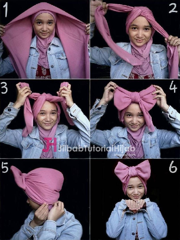 Tutorial Cara Memakai Hijab Modern Yang Unik Dan Cantik Hijaber