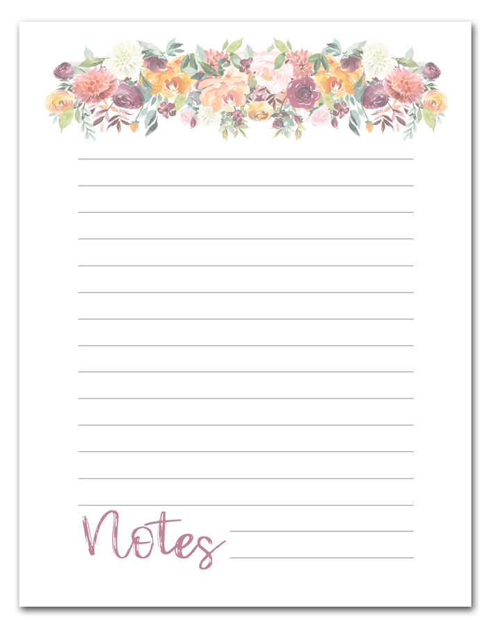 photograph relating to Printable Notes Page known as Cost-free Printable Floral Notice Webpage i need to be mopping the surface