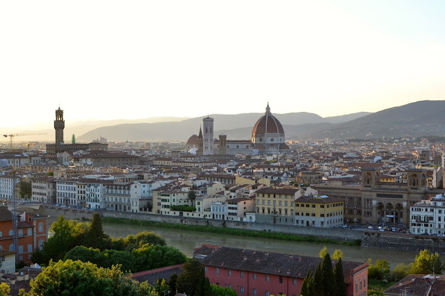 atardecer desde piazza micheangelo florencia italia