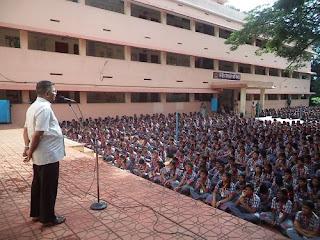 '70 Saal Azadi, Yaad Karo Kurbani' - Talk by Major (Retd.) Raveendran in the Morning Assembly