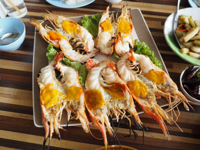 ayutthaya giant river prawns seafood meal