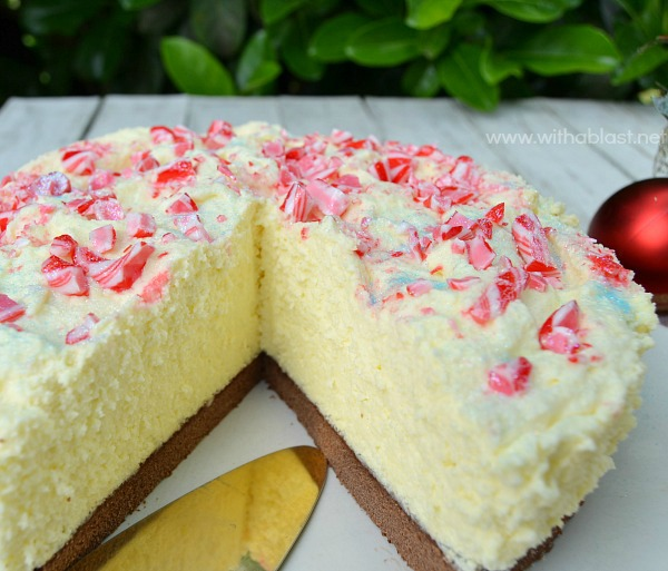 White Chocolate Mousse Cake has a chewy Cake base, creamy Mousse and a taste which will blow you away ~ make-ahead friendly recipe