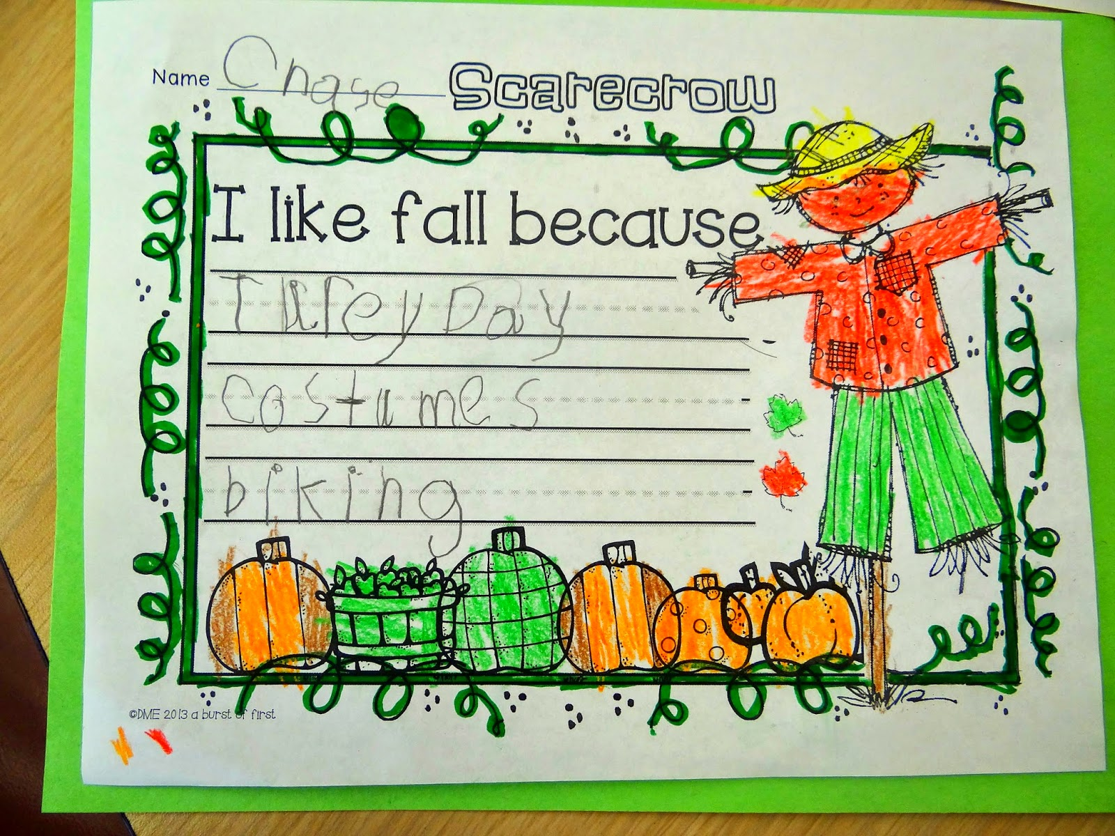 Patties Classroom Fall And Scarecrow Art And Writing