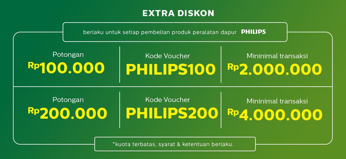 JdID - Promo Philips Fair + Diskon s.d 200 Ribu + Free Gift (s.d 20 Agustus 2018)