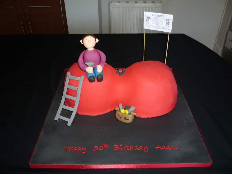 Elaine Allan 30th Birthday Builder And Boob Cake