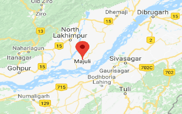 Majuli Tourist Map-2018, Majuli Map, Satellite Map Of Majuli