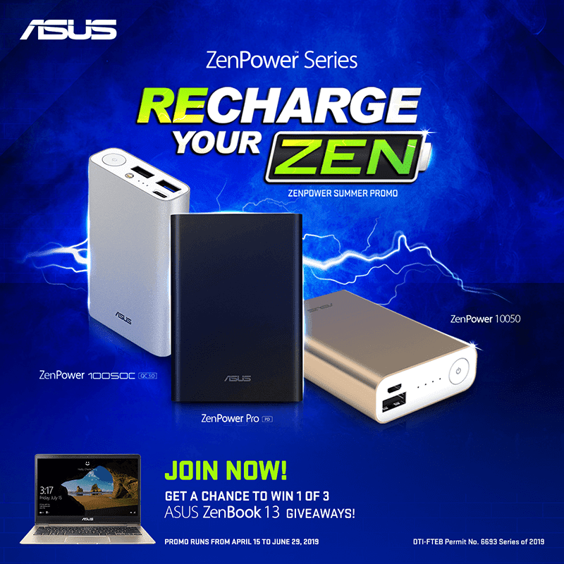 """Get a chance to win ASUS ZenBook 13 during ASUS """"Recharge your Zen"""" promo"""