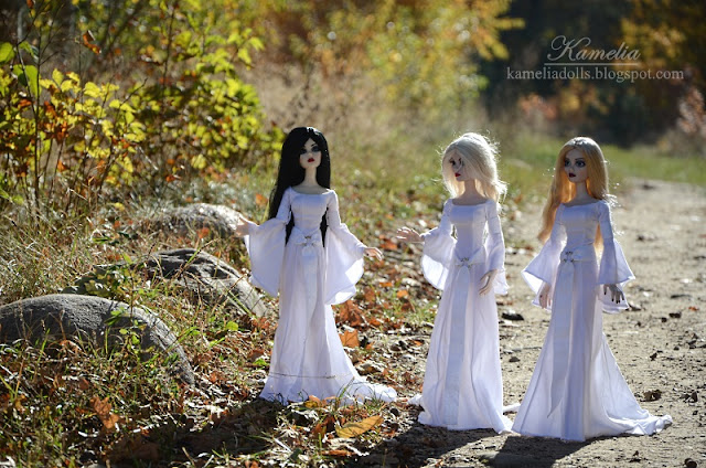 Celtic dresses for Evangeline Ghastly Wilde Imagination dolls