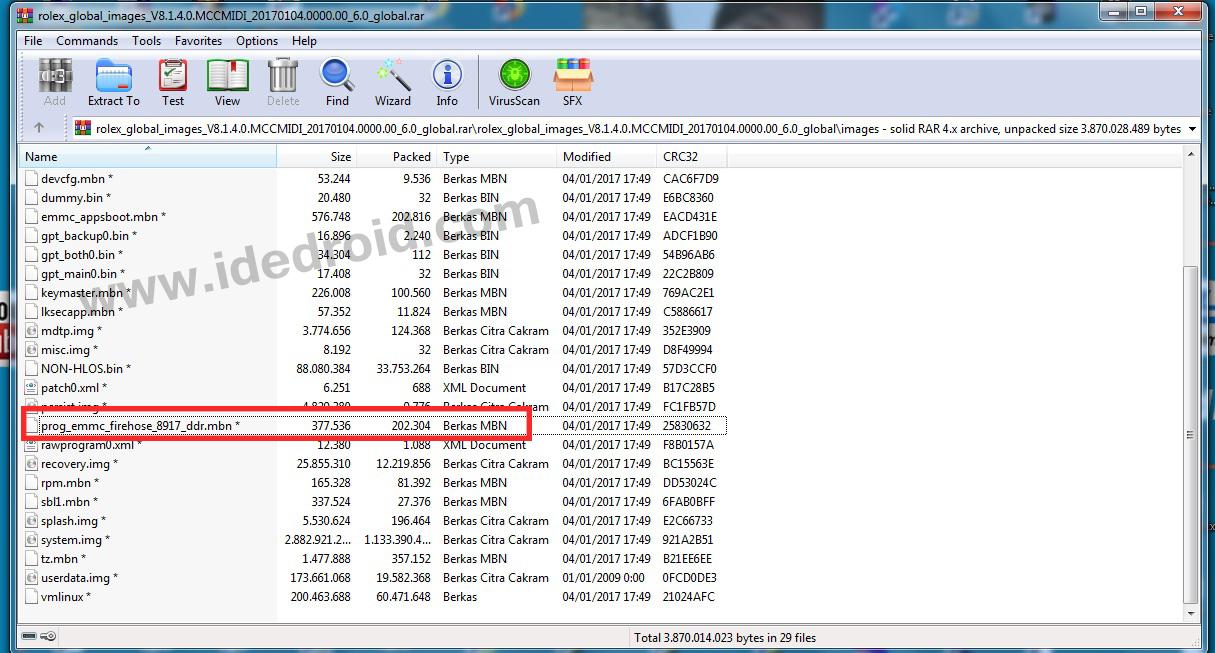 Kumpulan file prog firehose untuk Wipedata / Remove FRP Qualcomm