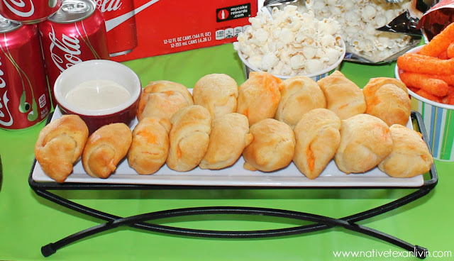 Buffalo Chicken Crescent Roll-Ups. Easy recipe for at home tailgating or at the game! Wash it down with a Coca-Cola!