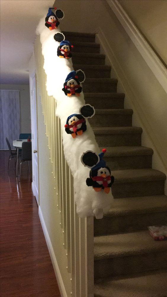 13 Hermosas Ideas Para Decorar Escaleras En Navidad
