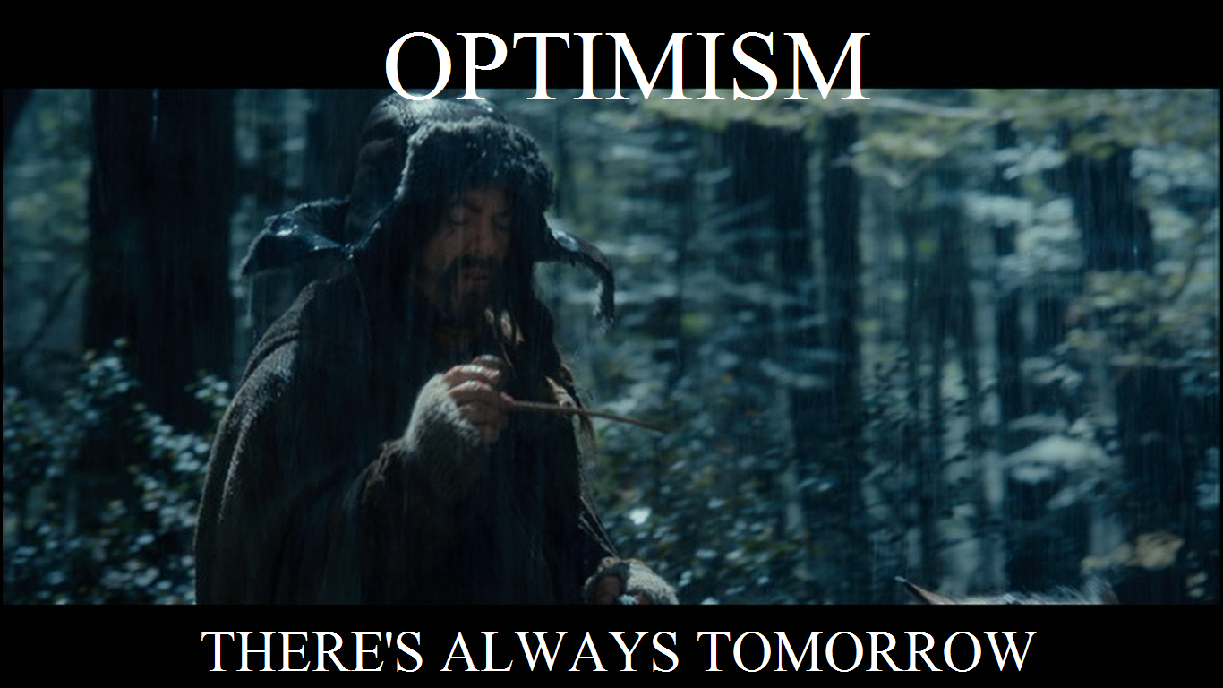 Have Faith In Tomorrow For It Can Bring Better Days: Clueless Freshman: LotR Pics Of The Day