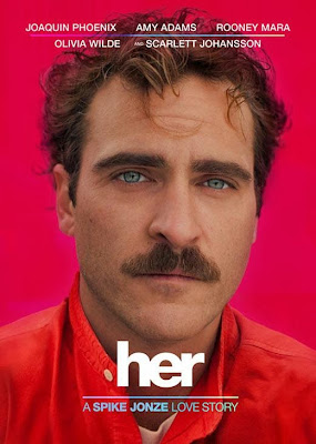 Poster Of Hollywood Film Her (2013) In 300MB Compressed Size PC Movie Free Download At worldfree4u.com
