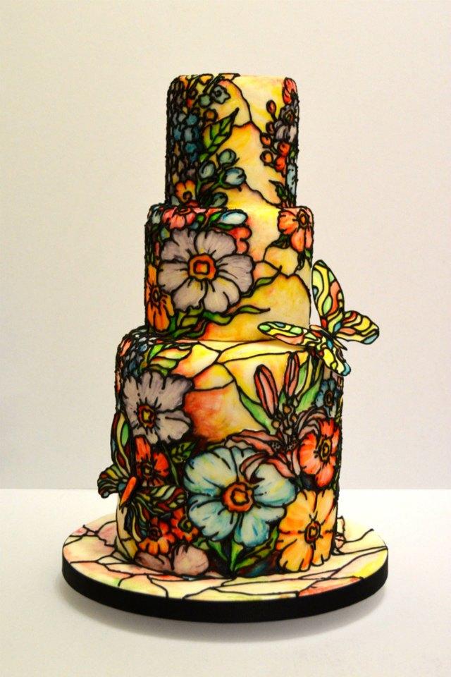 Glass Wedding Cake Stand