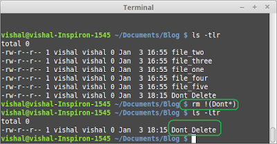 [How To] Delete all but some files in UNIX