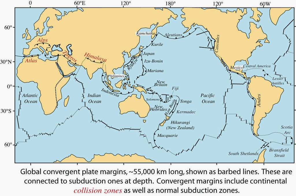 Volcanoes Related Plate Boundaries