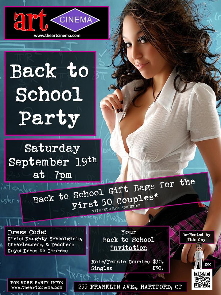 Next Art Cinema Party! Back to School!