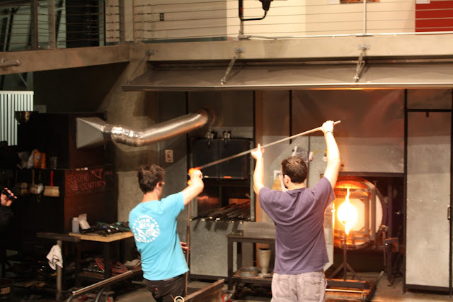 Active glassblowing at Museum of Glass in Tacoma, WA.