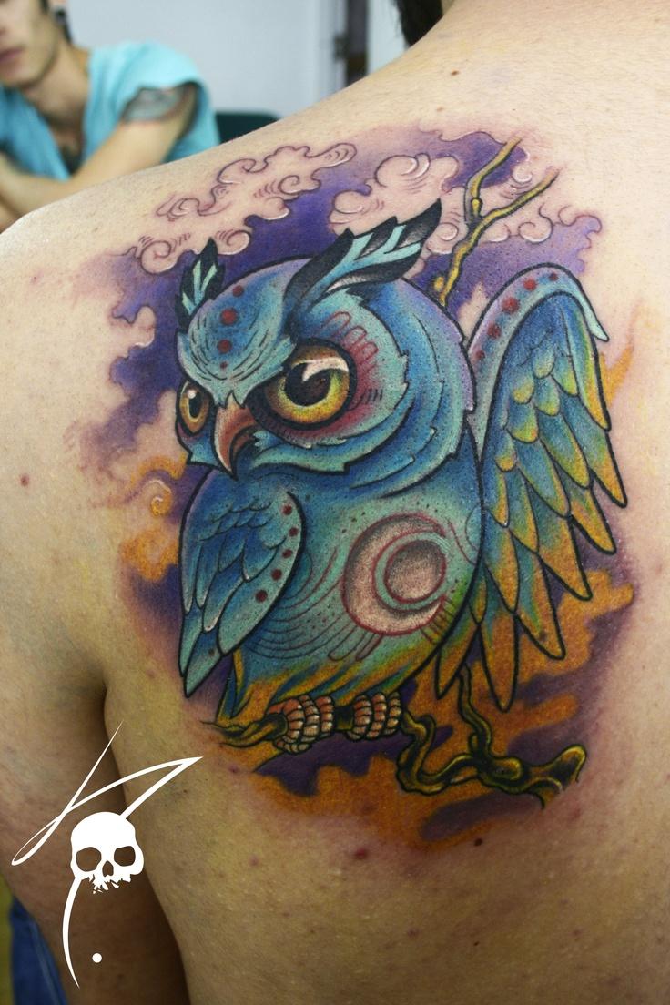 51 Gambar Tato Owl Di Punggung