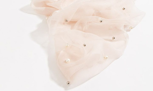 sciarpa con perle