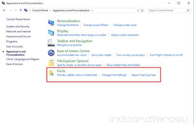 Cara Menambahkan/ Install Font Pada Windows 10 4