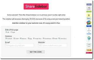 Floating Social Media Share Buttons On Blogger Side
