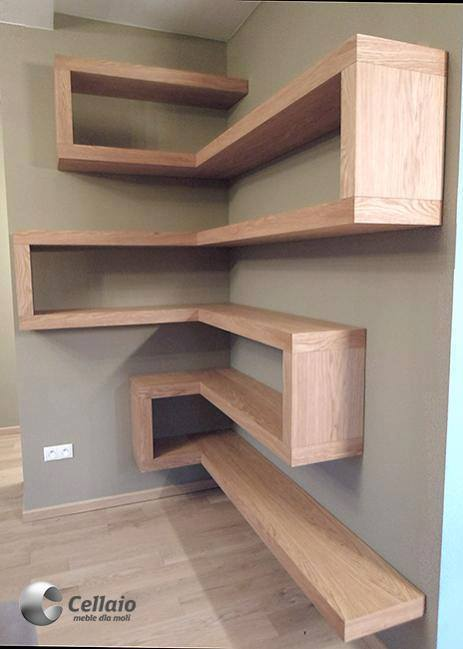 20 ideas of wooden shelves you will love decor units. Black Bedroom Furniture Sets. Home Design Ideas