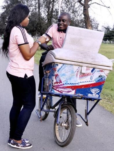 See the couple that used ice-cream bicycle for pre-wedding shoot (photos)