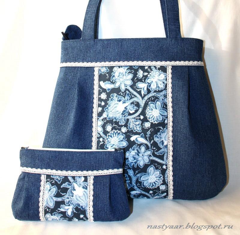 3e3ade799b53 Рукодельное мое.: Джинсовая сумка и косметичка.