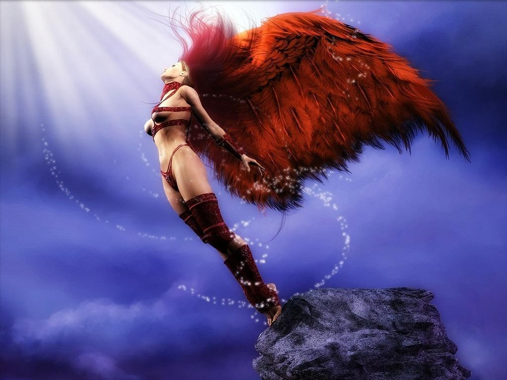 Beautiful fantasy angels