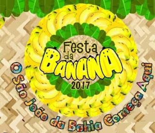 Atrações Festa da Banana 2017 Mês Junho